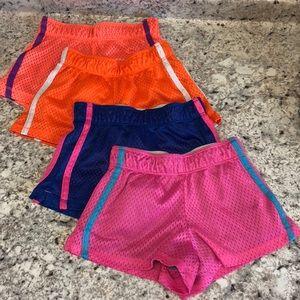 Girls mesh shorts bundle